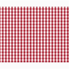 Usa Flag Red Blood Large Gingham Check Canvas 16  X 20