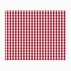Usa Flag Red Blood Large Gingham Check Small Glasses Cloth (2 Side) by PodArtist