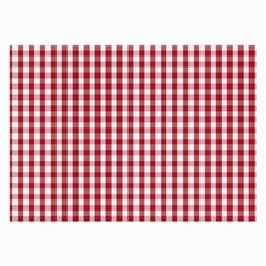 Usa Flag Red Blood Large Gingham Check Large Glasses Cloth by PodArtist