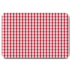Usa Flag Red Blood Large Gingham Check Large Doormat