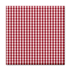 Usa Flag Red Blood Large Gingham Check Face Towel by PodArtist