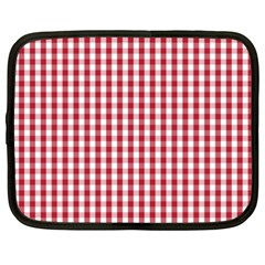 Usa Flag Red Blood Large Gingham Check Netbook Case (xxl)  by PodArtist