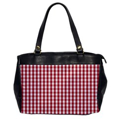 Usa Flag Red Blood Large Gingham Check Office Handbags