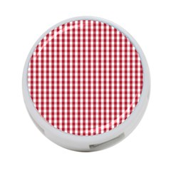 Usa Flag Red Blood Large Gingham Check 4 Port Usb Hub (one Side) by PodArtist