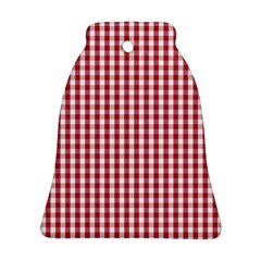 Usa Flag Red Blood Large Gingham Check Bell Ornament (two Sides) by PodArtist