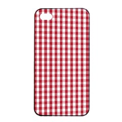 Usa Flag Red Blood Large Gingham Check Apple Iphone 4/4s Seamless Case (black) by PodArtist