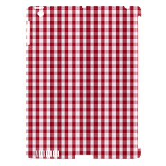 Usa Flag Red Blood Large Gingham Check Apple Ipad 3/4 Hardshell Case (compatible With Smart Cover) by PodArtist