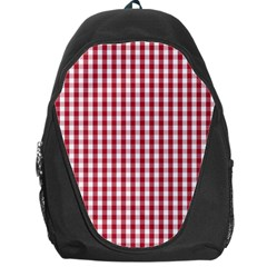 Usa Flag Red Blood Large Gingham Check Backpack Bag by PodArtist
