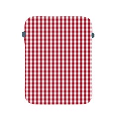 Usa Flag Red Blood Large Gingham Check Apple Ipad 2/3/4 Protective Soft Cases by PodArtist