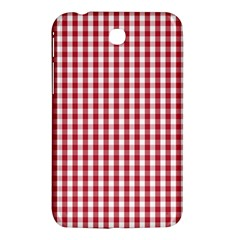 Usa Flag Red Blood Large Gingham Check Samsung Galaxy Tab 3 (7 ) P3200 Hardshell Case  by PodArtist