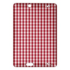 Usa Flag Red Blood Large Gingham Check Amazon Kindle Fire Hd (2013) Hardshell Case by PodArtist
