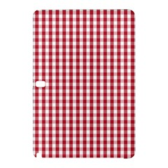 Usa Flag Red Blood Large Gingham Check Samsung Galaxy Tab Pro 12 2 Hardshell Case by PodArtist