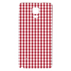 Usa Flag Red Blood Large Gingham Check Galaxy Note 4 Back Case by PodArtist