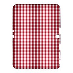 Usa Flag Red Blood Large Gingham Check Samsung Galaxy Tab 4 (10 1 ) Hardshell Case  by PodArtist