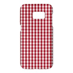 Usa Flag Red Blood Large Gingham Check Samsung Galaxy S7 Hardshell Case  by PodArtist