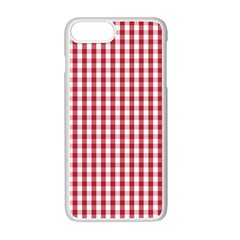 Usa Flag Red Blood Large Gingham Check Apple Iphone 7 Plus White Seamless Case by PodArtist