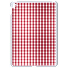 Usa Flag Red Blood Large Gingham Check Apple Ipad Pro 9 7   White Seamless Case by PodArtist