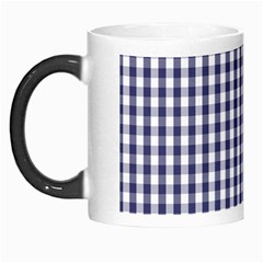 Usa Flag Blue Large Gingham Check Plaid  Morph Mugs by PodArtist