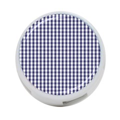 Usa Flag Blue Large Gingham Check Plaid  4 Port Usb Hub (one Side) by PodArtist