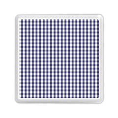 Usa Flag Blue Large Gingham Check Plaid  Memory Card Reader (square)  by PodArtist