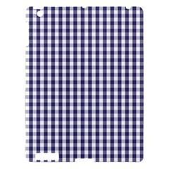 Usa Flag Blue Large Gingham Check Plaid  Apple Ipad 3/4 Hardshell Case by PodArtist