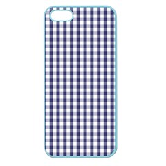 Usa Flag Blue Large Gingham Check Plaid  Apple Seamless Iphone 5 Case (color) by PodArtist