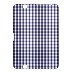 Usa Flag Blue Large Gingham Check Plaid  Kindle Fire Hd 8 9  by PodArtist