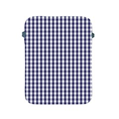 Usa Flag Blue Large Gingham Check Plaid  Apple Ipad 2/3/4 Protective Soft Cases by PodArtist