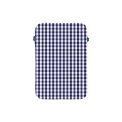 Usa Flag Blue Large Gingham Check Plaid  Apple Ipad Mini Protective Soft Cases by PodArtist