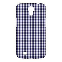 Usa Flag Blue Large Gingham Check Plaid  Samsung Galaxy Mega 6 3  I9200 Hardshell Case by PodArtist