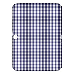 Usa Flag Blue Large Gingham Check Plaid  Samsung Galaxy Tab 3 (10 1 ) P5200 Hardshell Case  by PodArtist