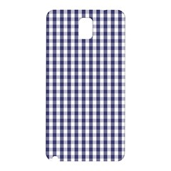 Usa Flag Blue Large Gingham Check Plaid  Samsung Galaxy Note 3 N9005 Hardshell Back Case by PodArtist