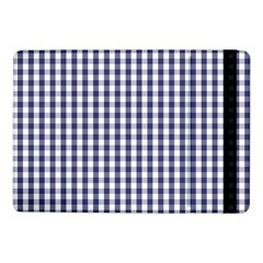 Usa Flag Blue Large Gingham Check Plaid  Samsung Galaxy Tab Pro 10 1  Flip Case by PodArtist