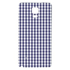 Usa Flag Blue Large Gingham Check Plaid  Galaxy Note 4 Back Case by PodArtist