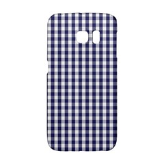 Usa Flag Blue Large Gingham Check Plaid  Galaxy S6 Edge
