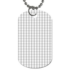 Christmas Silver Gingham Check Plaid Dog Tag (two Sides) by PodArtist
