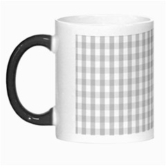 Christmas Silver Gingham Check Plaid Morph Mugs by PodArtist