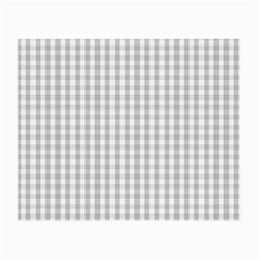 Christmas Silver Gingham Check Plaid Small Glasses Cloth (2 Side) by PodArtist