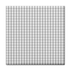 Christmas Silver Gingham Check Plaid Face Towel by PodArtist
