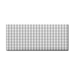 Christmas Silver Gingham Check Plaid Cosmetic Storage Cases by PodArtist