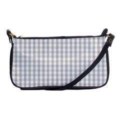 Christmas Silver Gingham Check Plaid Shoulder Clutch Bags by PodArtist