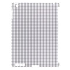 Christmas Silver Gingham Check Plaid Apple Ipad 3/4 Hardshell Case (compatible With Smart Cover) by PodArtist