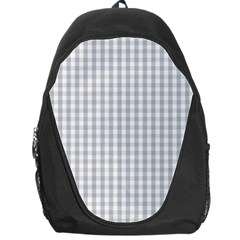 Christmas Silver Gingham Check Plaid Backpack Bag by PodArtist