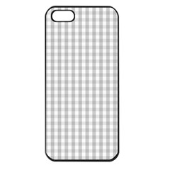 Christmas Silver Gingham Check Plaid Apple Iphone 5 Seamless Case (black) by PodArtist