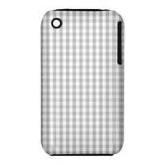 Christmas Silver Gingham Check Plaid Iphone 3s/3gs by PodArtist
