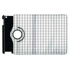Christmas Silver Gingham Check Plaid Apple Ipad 3/4 Flip 360 Case by PodArtist