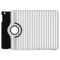 Christmas Silver Gingham Check Plaid Apple Ipad Mini Flip 360 Case by PodArtist