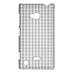 Christmas Silver Gingham Check Plaid Nokia Lumia 720 by PodArtist