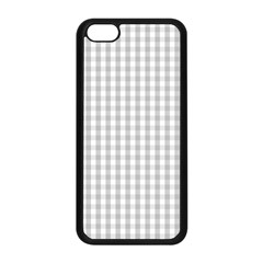 Christmas Silver Gingham Check Plaid Apple Iphone 5c Seamless Case (black)