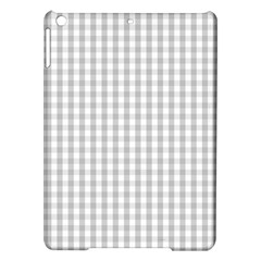 Christmas Silver Gingham Check Plaid Ipad Air Hardshell Cases by PodArtist